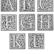 Decorative Initials, C1600 Art Print