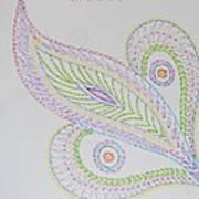 Decorative Leaf Art Print