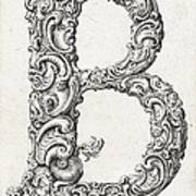 Decorative Letter Type B 1650 Art Print