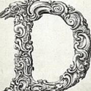 Decorative Letter Type D 1650 Art Print