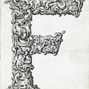 Decorative Letter Type F 1650 Art Print