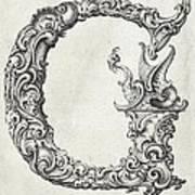 Decorative Letter Type G 1650 Art Print