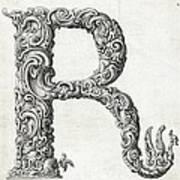 Decorative Letter Type R 1650 Art Print