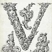 Decorative Letter Type V 1650 Art Print