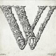 Decorative Letter Type W 1650 Art Print