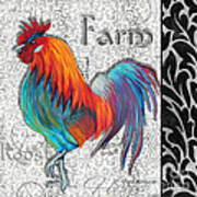 Decorative Rooster Chicken Decorative Art Original Painting King Of The Roost By Megan Duncanson Art Print
