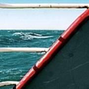 Deep Blue Sea Of The Gulf Of Mexico Off The Coast Of Louisiana Louisiana Art Print