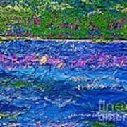 Deep Blue Texture Abstract Art Print