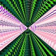 Deep Green And Pink Art Print