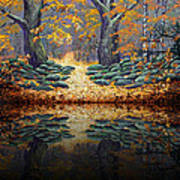 Deep Pond Reflections Art Print