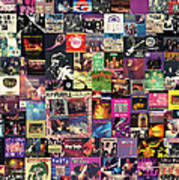 Deep Purple Collage Art Print