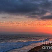 Deep Red Sunset Art Print