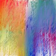 Deep Rich Sherbet Abstract Art Print