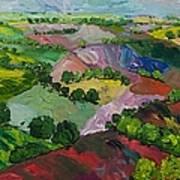 Deep Ridge Red Hill Art Print