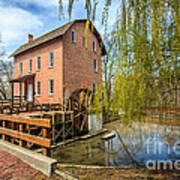 Deep River County Park Grist Mill Art Print by Paul Velgos