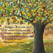Deep Roots-with Scripture Art Print