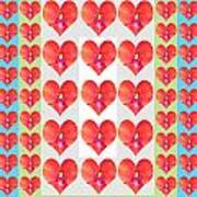 Deeply In Love Cherryhill Flower Petal Based Sweet Heart Pattern Colormania Graphics Art Print