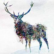 Deer In Watercolor Art Print