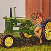 1938 Model B John Deere Art Print