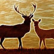 Deers Lookout Art Print