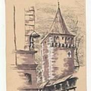 Defensive Bastion Cracow Art Print