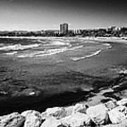 Defensive Breakwater At Els Pilons On The Costa Dorada Catalonia Spain Art Print