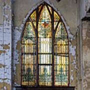 Defiant Stain Glass Church Window #1 Art Print