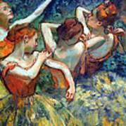 Degas' Four Dancers Up Close Art Print