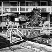 Del Marcos Pool Bw Palm Springs Art Print