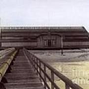 Del Monte Bathhouse From Pier California  Circa 1890 Art Print