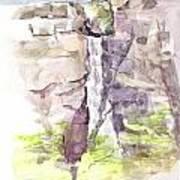 Del Sano Falls Art Print by David  Hawkins
