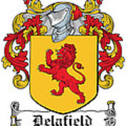 Delafield Coat Of Arms Irish Art Print