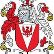 Delap Coat Of Arms Irish Art Print