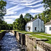 Delaware Canal Kingston New Jersey Art Print