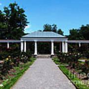 Delaware Park Rose Garden And Pergola Buffalo Ny Oil Painting Effect Art Print