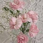 Delicate Pink Flowers Art Print by Good Taste Art