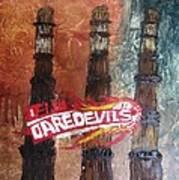 Delhi Daredevils In Delhi Art Print