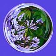 Delicate Flowers Orb Art Print
