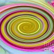 Delicate Pink Twirl Art Print