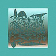 Delicate Turquoize Stroke Art Print