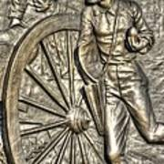 Delivering The Charge - Detail-b 1st New York Light Artillery - Fitzhughs Battery K Gettysburg Art Print