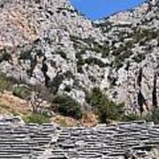Delphi Stadium Ruins 2 Art Print