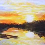 Delta Bayou Sunset Art Print