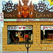 Delusions Of Grandeur Bank St Furniture Art Store On The Glebe Paintings Of Ottawa Scenes C Spandau Art Print
