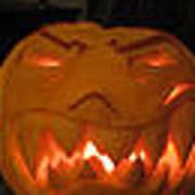 Demented Mister Ullman Pumpkin 2 Art Print
