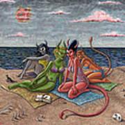Demon Beaches Art Print