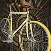 Demon Path Racer Bicycle Art Print by Mark Jones