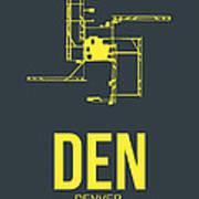 Den Denver Airport Poster 1 Print by Naxart Studio