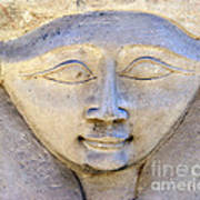 Dendara Carving 2 - Hathor Art Print