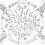 Dendera Zodiac Art Print